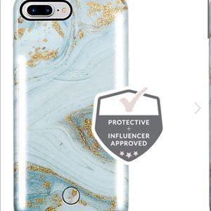 Lumee duo glitter marble phone case iPhone 6+,7+8+